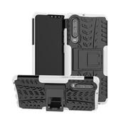 GSMWise Huawei P30 Hoesje - Hybride Back Cover met standaard - Wit