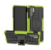 GSMWise Huawei P30 Pro Hoesje - Hybride Back Cover met standaard - Groen
