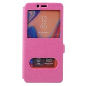 GSMWise Samsung Galaxy A7 (2018) Hoesje - Window View Book Case - Roze