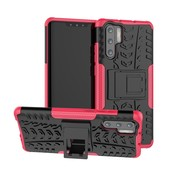 GSMWise Huawei P30 Pro Hoesje - Hybride Back Cover met standaard - Roze