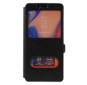 GSMWise Samsung Galaxy A7 (2018) Hoesje - Window View Book Case - Zwart