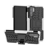 GSMWise Huawei P30 Pro Hoesje - Hybride Back Cover met standaard - Wit