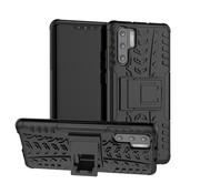 GSMWise Huawei P30 Pro Hoesje - Hybride Back Cover met standaard - Zwart