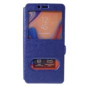 GSMWise Samsung Galaxy A7 (2018) Hoesje - Window View Book Case - Blauw