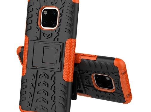 GSMWise Huawei Mate 20 Pro Hoesje - Hybride Back Cover met standaard - Oranje