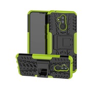GSMWise Huawei Mate 20 Lite Hoesje - Hybride Back Cover met standaard - Groen