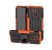 GSMWise Huawei Mate 20 Lite Hoesje - Hybride Back Cover met standaard - Oranje
