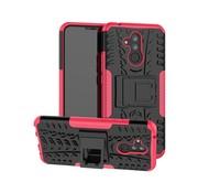 GSMWise Huawei Mate 20 Lite Hoesje - Hybride Back Cover met standaard - Roze