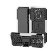 GSMWise Huawei Mate 20 Lite Hoesje - Hybride Back Cover met standaard - Wit