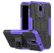 GSMWise Huawei Mate 10 Lite Hoesje - Hybride Back Cover met standaard - Paars