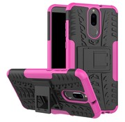 GSMWise Huawei Mate 10 Lite Hoesje - Hybride Back Cover met standaard - Roze