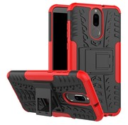 GSMWise Huawei Mate 10 Lite Hoesje - Hybride Back Cover met standaard - Rood