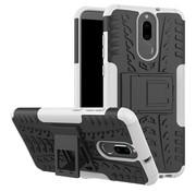 GSMWise Huawei Mate 10 Lite Hoesje - Hybride Back Cover met standaard - Wit