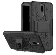 GSMWise Huawei Mate 10 Lite Hoesje - Hybride Back Cover met standaard - Zwart