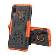GSMWise Samsung Galaxy A50 Hoesje - Hybride Back Cover met standaard - Oranje