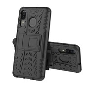 GSMWise Samsung Galaxy A50 Hoesje - Hybride Back Cover met standaard - Zwart