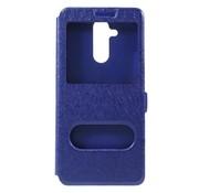 GSMWise Huawei Mate 20 Lite Hoesje - Window View Book Case - Blauw