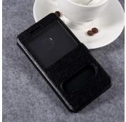 GSMWise Huawei P10 Lite Hoesje - Window View Book Case - Zwart