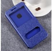 GSMWise Huawei P10 Lite Hoesje - Window View Book Case - Blauw