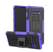 GSMWise Samsung Galaxy S10 Plus Hoesje - Hybride Back Cover met standaard - Paars