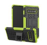 GSMWise Samsung Galaxy S10 Plus Hoesje - Hybride Back Cover met standaard - Groen