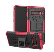 GSMWise Samsung Galaxy S10 Plus Hoesje - Hybride Back Cover met standaard - Roze