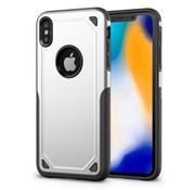 GSMWise Apple iPhone XS Max Hoesje - Harde Back Case Armor - Zilver