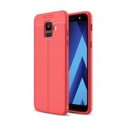 GSMWise Samsung Galaxy A6 (2018) Hoesje - Zachte TPU Back Case - Rood