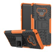 GSMWise Samsung Galaxy Note 9 Hoesje - Hybride Back Cover met standaard - Oranje