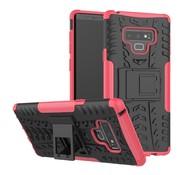 GSMWise Samsung Galaxy Note 9 Hoesje - Hybride Back Cover met standaard - Roze
