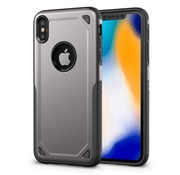 GSMWise Apple iPhone XS Max Hoesje - Harde Back Case Armor - Grijs