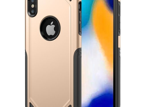 GSMWise Apple iPhone XS Max Hoesje - Harde Back Case Armor - Goud