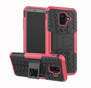 GSMWise Samsung Galaxy A6 (2018) Hoesje - Hybride Back Cover met standaard - Roze