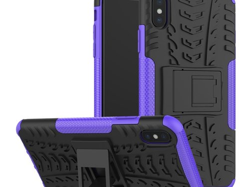 GSMWise Apple iPhone XS Max Hoesje - Hybride Back Cover met standaard - Paars