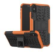 GSMWise Apple iPhone XS Max Hoesje - Hybride Back Cover met standaard - Oranje