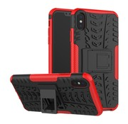 GSMWise Apple iPhone XS Max Hoesje - Hybride Back Cover met standaard - Rood