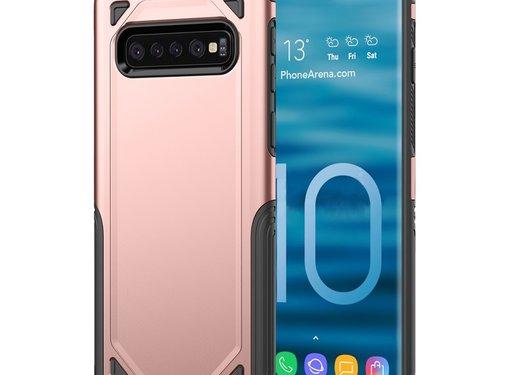 GSMWise Samsung Galaxy S10 Hoesje - Harde Back Case Armor - Roze Goud