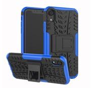 GSMWise Apple iPhone XR Hoesje - Hybride Back Cover met standaard - Blauw