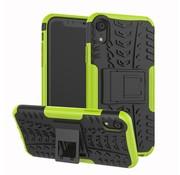 GSMWise Apple iPhone XR Hoesje - Hybride Back Cover met standaard - Groen