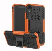 GSMWise Apple iPhone XR Hoesje - Hybride Back Cover met standaard - Oranje