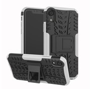 GSMWise Apple iPhone XR Hoesje - Hybride Back Cover met standaard - Wit