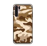 GSMWise Huawei P30 Pro Hoesje - Back Case Camouflage Stijl - Bruin
