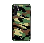 GSMWise Huawei P30 Pro Hoesje - Back Case Camouflage Stijl - Groen