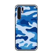 GSMWise Huawei P30 Pro Hoesje - Back Case Camouflage Stijl - Blauw