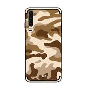 GSMWise Huawei P30 Hoesje - Back Case Camouflage Stijl - Khaki