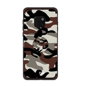 GSMWise Huawei Mate 20 Pro Hoesje - Back Case Camouflage Stijl - Bruin