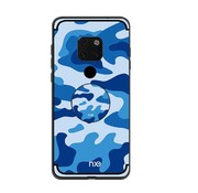 GSMWise Huawei Mate 20 Pro Hoesje - Back Case Camouflage Stijl - Blauw