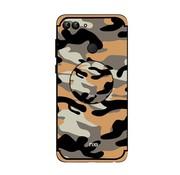 GSMWise Huawei P Smart (2018) Hoesje - Back Case Camouflage Stijl - Oranje