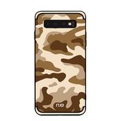 GSMWise Samsung Galaxy S10 Hoesje - Back Case Camouflage Stijl - Khaki
