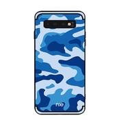 GSMWise Samsung Galaxy S10 Plus Hoesje - Back Case Camouflage Stijl - Blauw